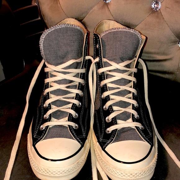 Converse custom plaid shoes